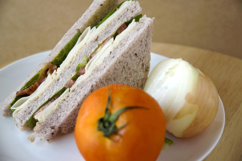 Download Sandwich On Plate With Tomato Stock Image - Image: 29501431