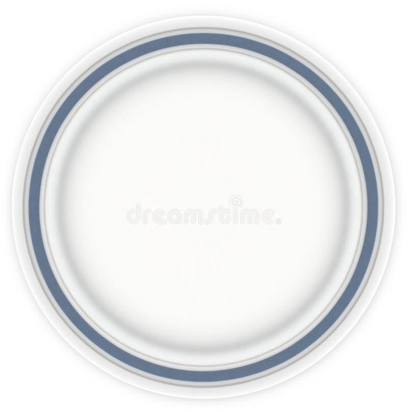 Sandwich-Platte mit Blau stockbilder
