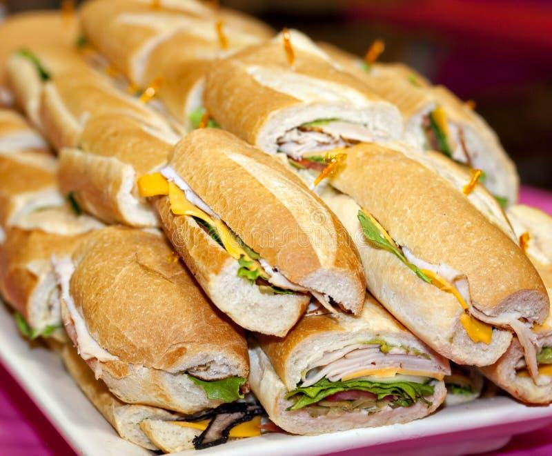 Sandwich platter stock photos