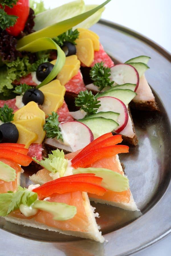 Sandwich platter stock photo