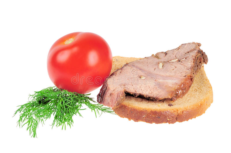 Download Sandwich with Roast beef stock image. Image of refreshment - 16246973
