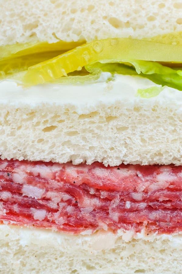 Sandwich rohen Fleisches Carpaccio stockbilder
