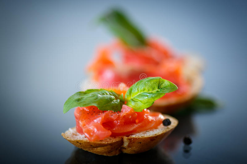 Download Sandwich With Salted Salmon Royalty Free Stock Photo - Image: 35539375