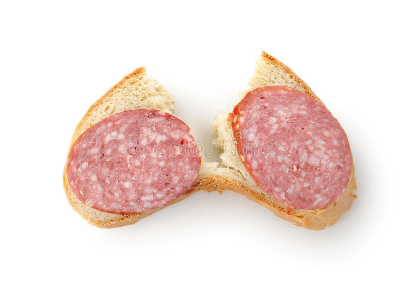 Download Sandwich With Sausage Isolated Stock Image - Image: 23545941