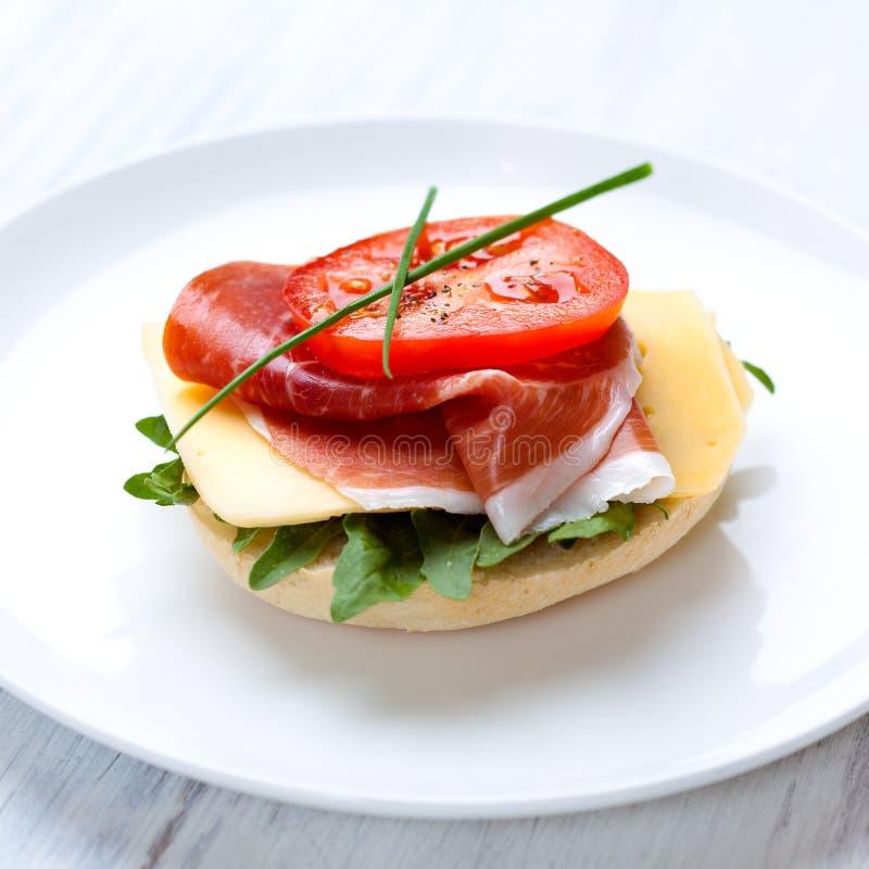Sandwich with Serrano Ham royalty free stock photography