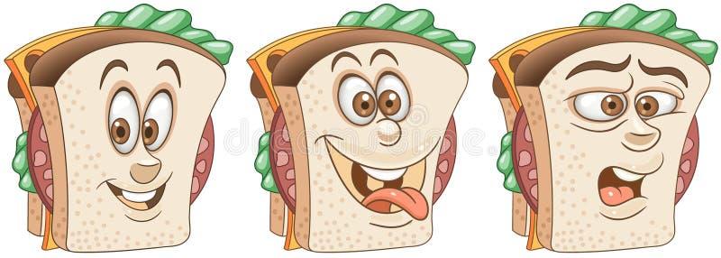 sandwich Snack-Food-Konzept vektor abbildung