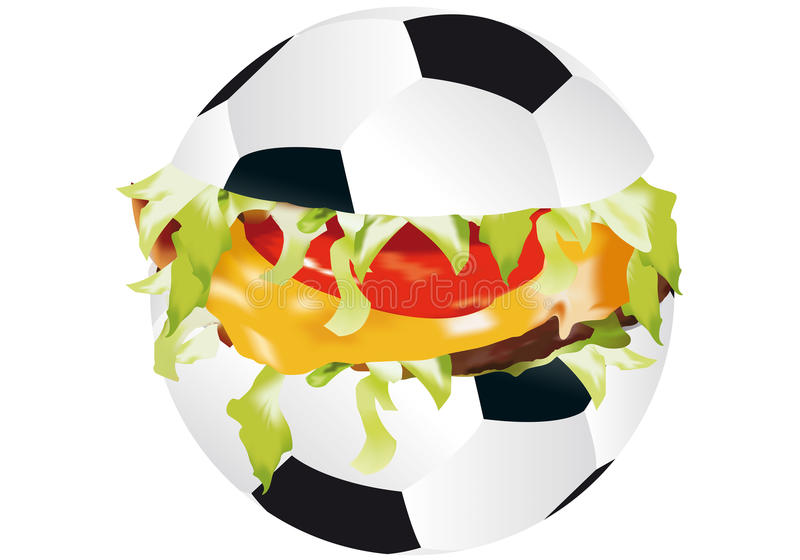 Download Sandwich sports stock illustration. Image of football - 22451832