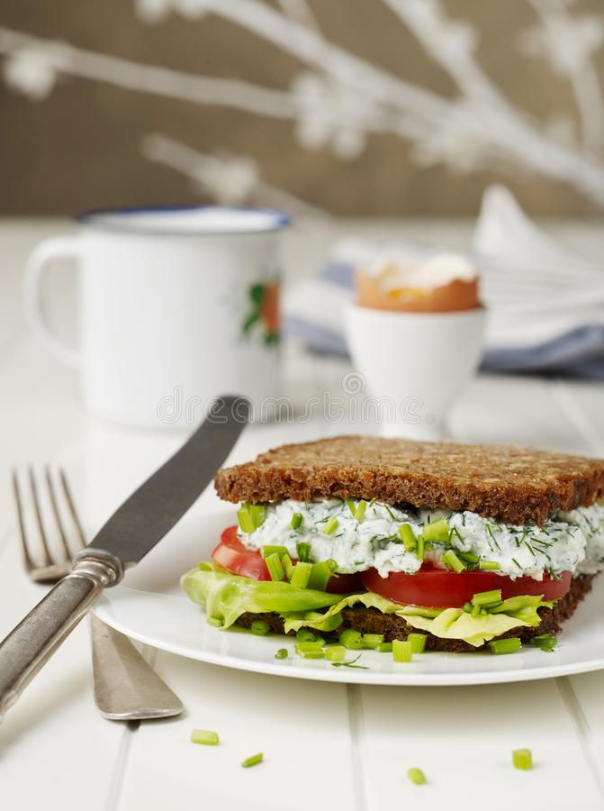 Sandwich on table royalty free stock photos