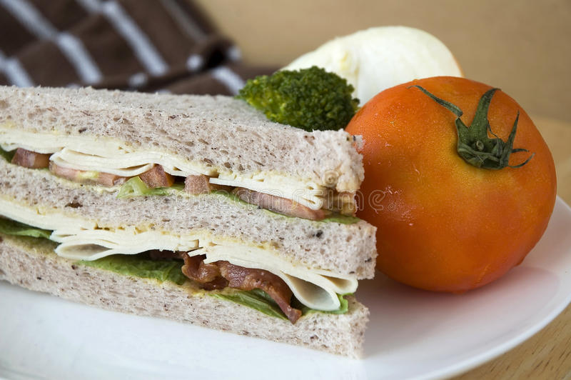 Download Sandwich with tomato stock photo. Image of food, gaba - 29501456