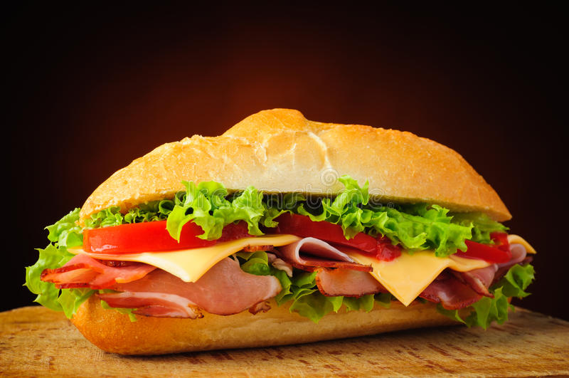 Sandwich traditionnel image stock