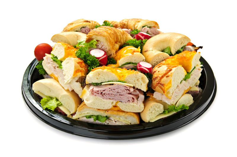 Sandwich tray royalty free stock image