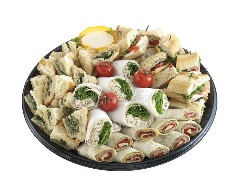Sandwich tray royalty free stock photos