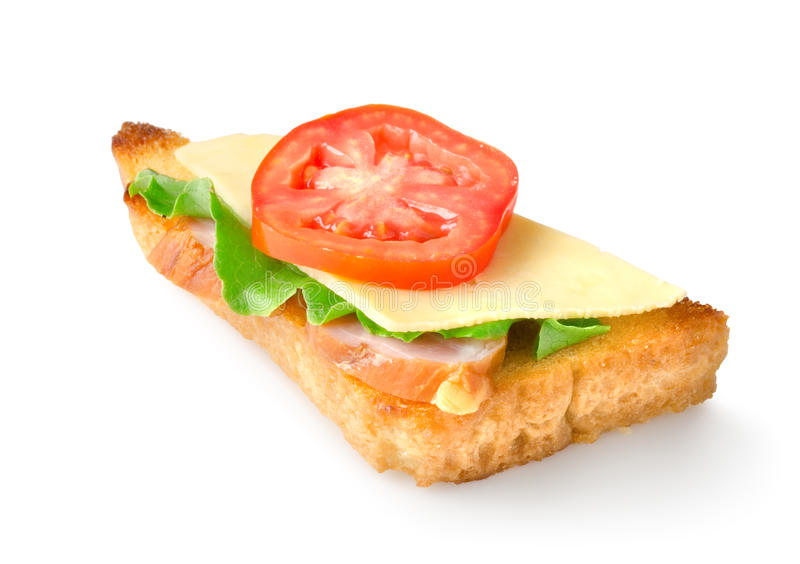Sandwich with vegetables isolated stock photos