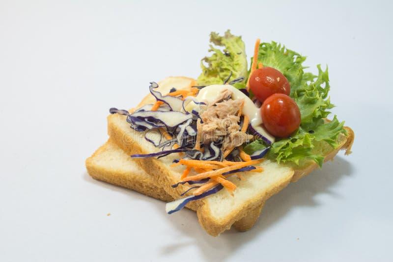 Sandwich witte achtergrond royalty-vrije stock foto's