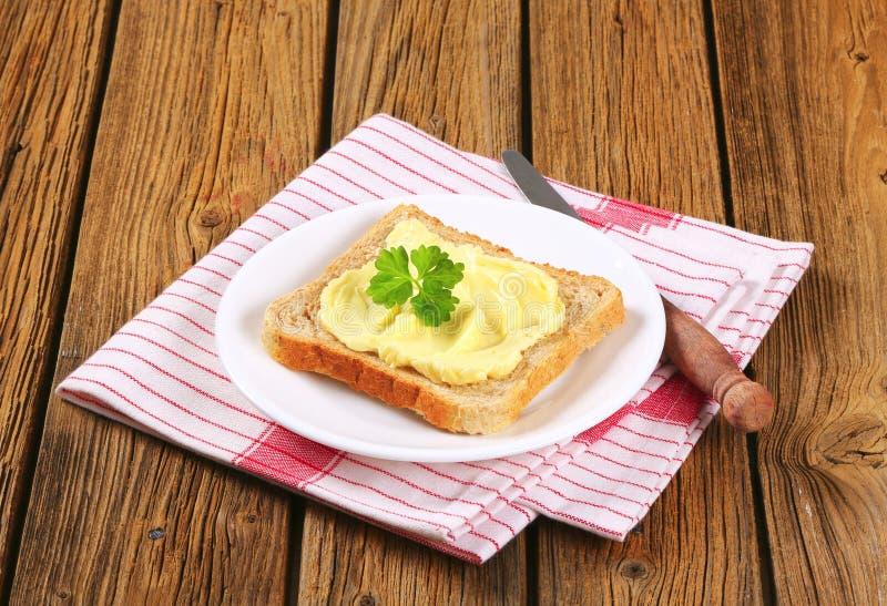 Sandwichbrood met boter royalty-vrije stock foto