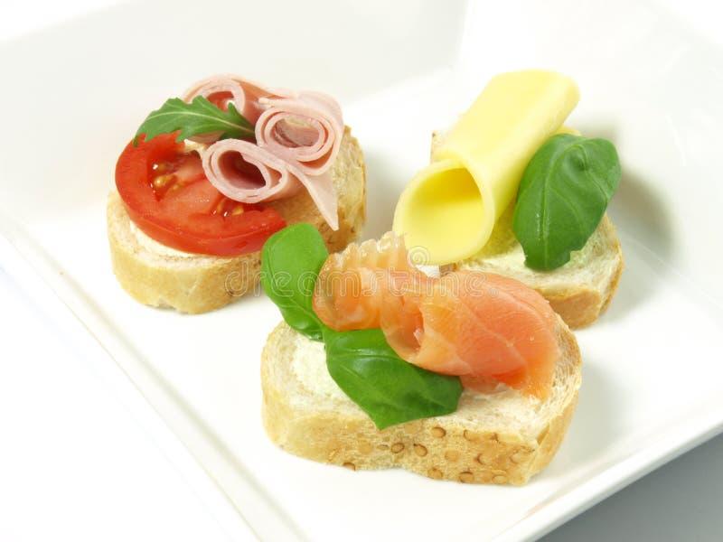 Sandwiche zum Frühstück. stockfotografie