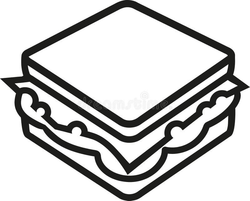 Sandwichentwurfsvektor vektor abbildung