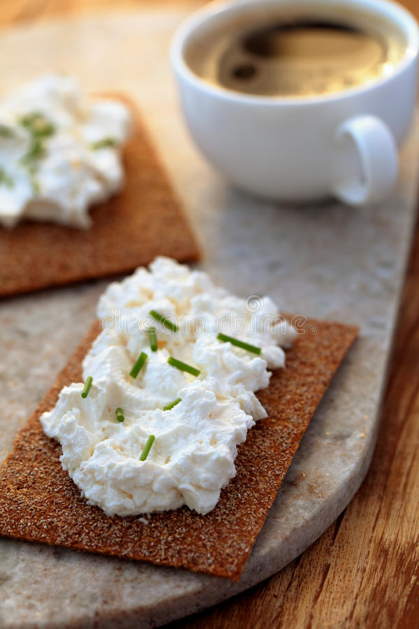 Sandwiches with cream cheese stock image