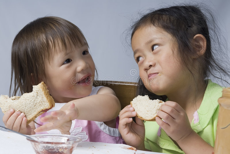 Sandwichs à beurre d'arachide photographie stock