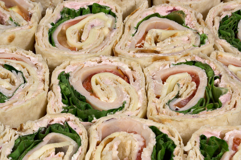 Sandwichs à chaîne de la Turquie image libre de droits