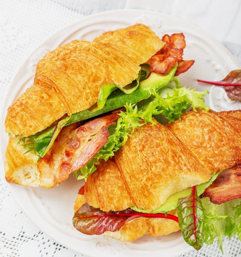 Sandwichs à croissants photo stock