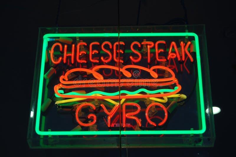 Sandwichs au néon images stock