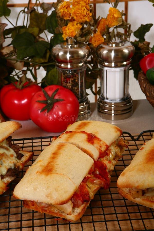 Sandwichs chauds à épicerie photos libres de droits
