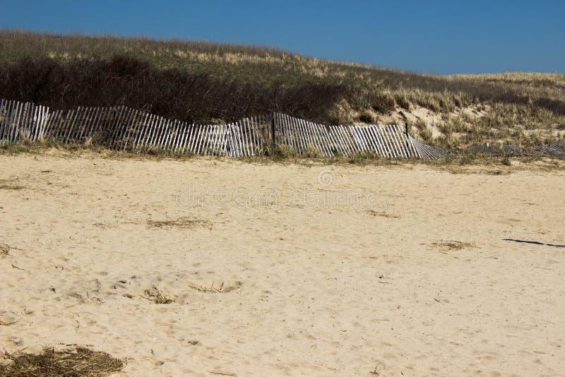 Sandwitch boardwalk beach at Cape Cod Massachusetts. Empty Sandwitch boardwalk beach in spring sunny day at Cape Cod Massachusetts, famous vacation dectination stock photo