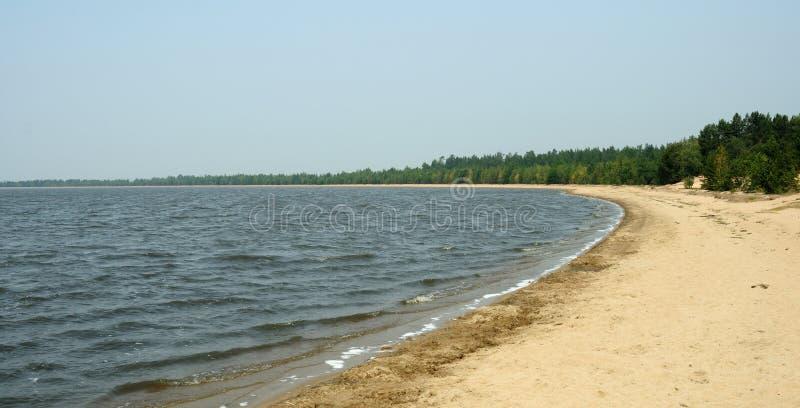 Sandy湖岸 免版税库存图片