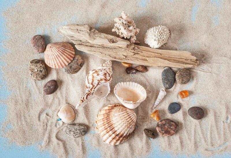 Sandy Background met Overzeese Schatten royalty-vrije stock foto
