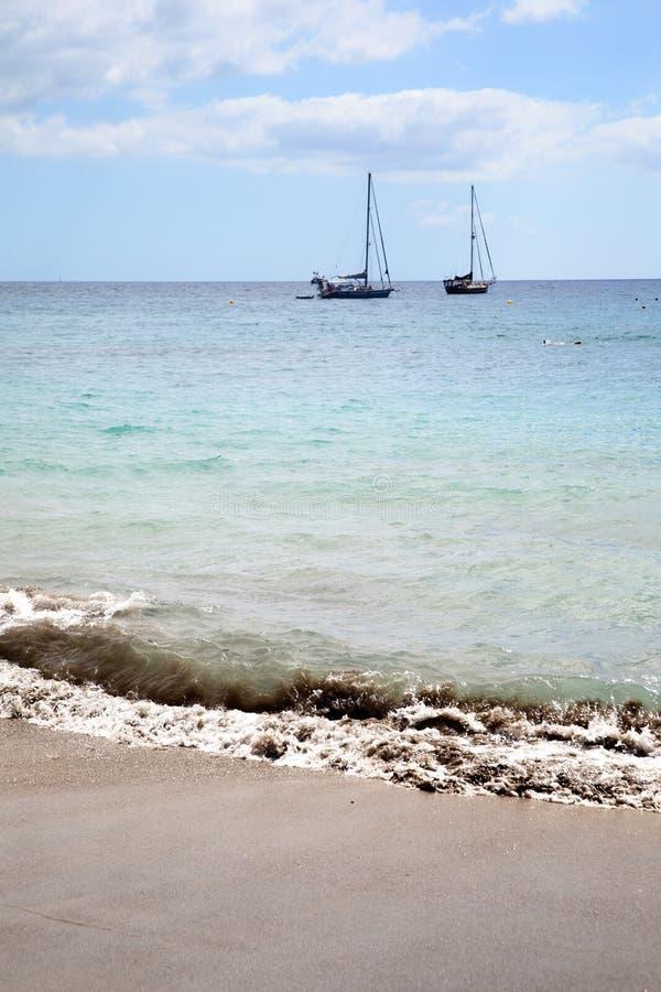 Download Sandy beach stock image. Image of beach, craft, blue - 16624441