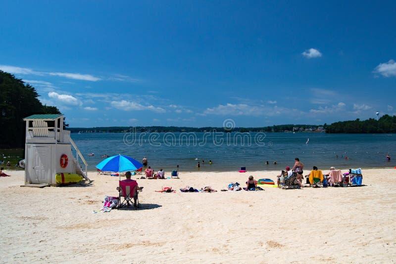 Sandy Beach ad un giardino pubblico fotografie stock libere da diritti