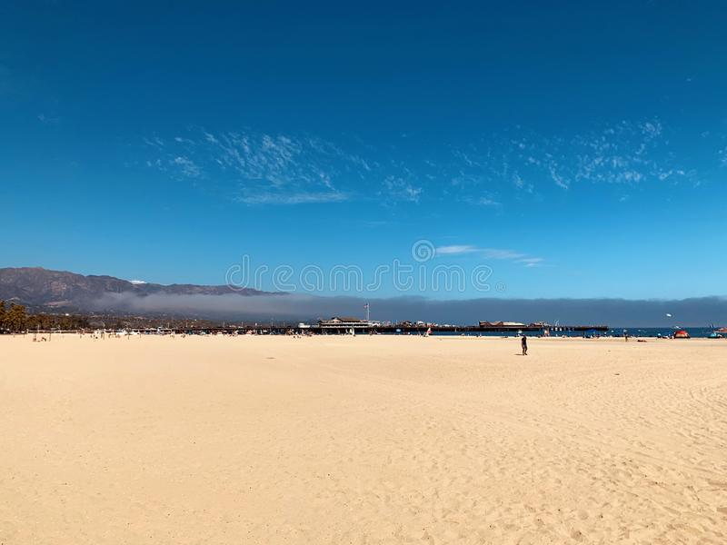 Sandy beach along the pacific.  Harbor – Port Marina del Rey, Santa Barbara, California.  stock images