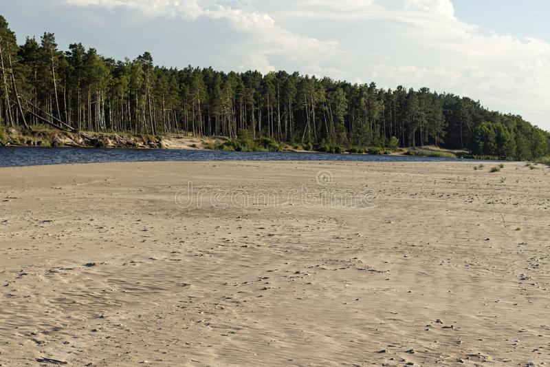 Beautiful view, Latvia, beautiful places of the Baltic countries. Beach on Kolka. stock photo