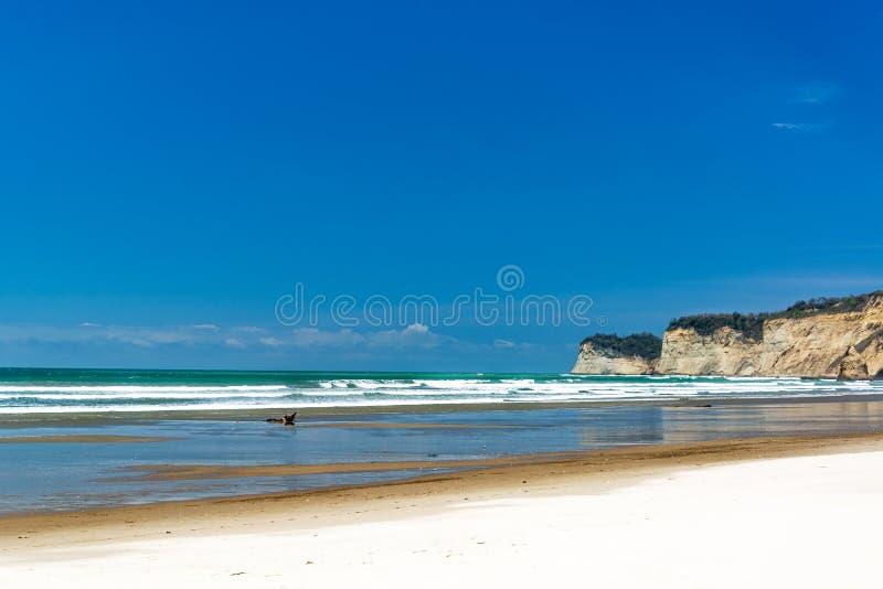 Sandy Beach blanc en Equateur photo libre de droits
