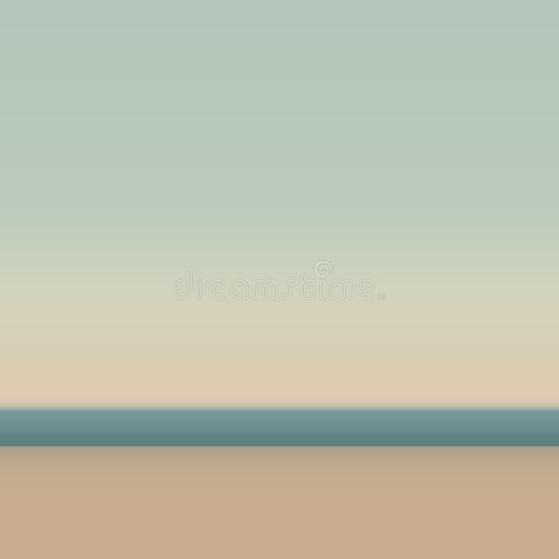 Sandy Beach bonito Fundo abstrato para a Web e aplicações móveis, ilustração da arte, projeto do molde, negócio ilustração stock