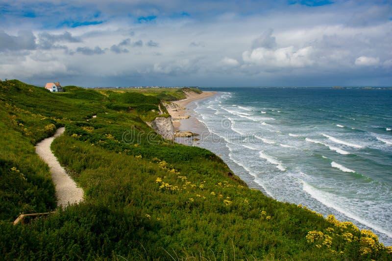 Sandy Beach cerca de Portrush en Irlanda del Norte imagen de archivo libre de regalías