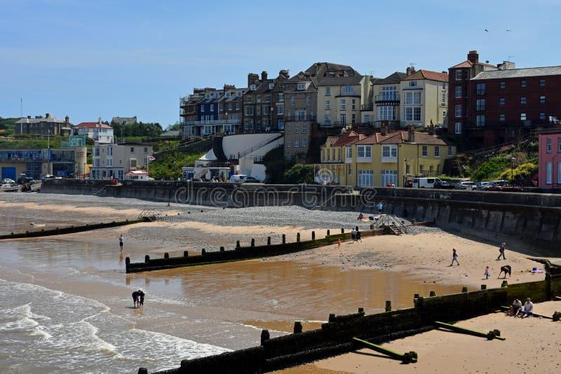 Sandy Beach, Cromer, Norfolk, Inglaterra imágenes de archivo libres de regalías