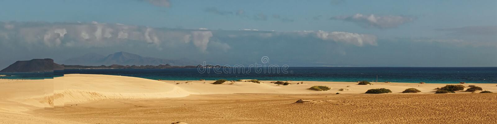 Sandy Beach Panorama foto de stock