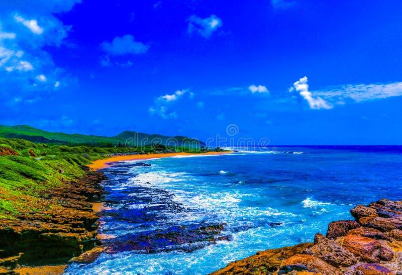 Sandy Beach Park Hawaii fotografía de archivo