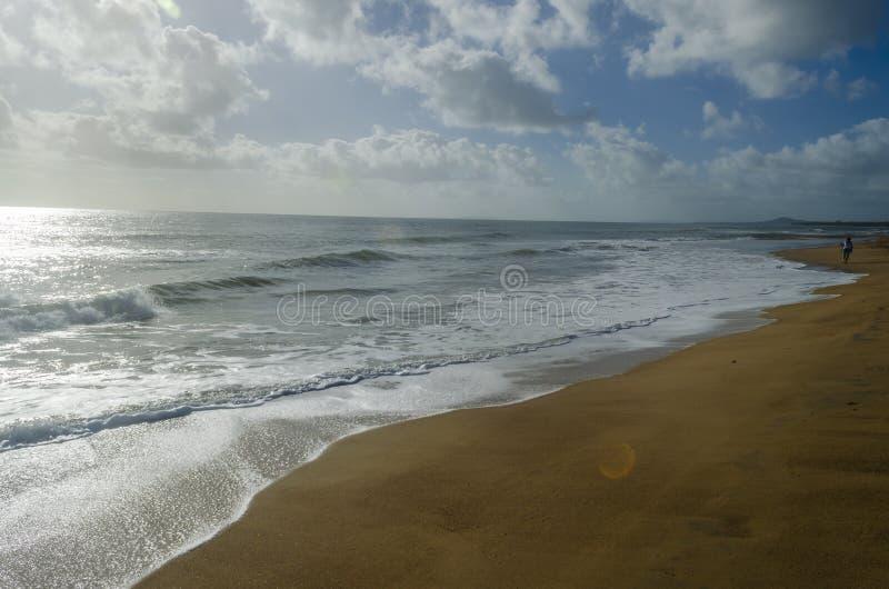 Sandy Beach sunrise near Gladstone stock photography