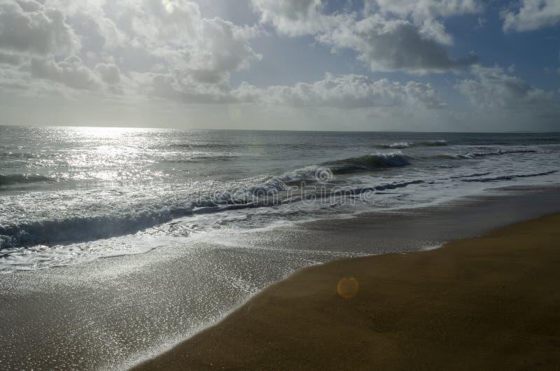 Sandy Beach sunrise near Gladstone stock images