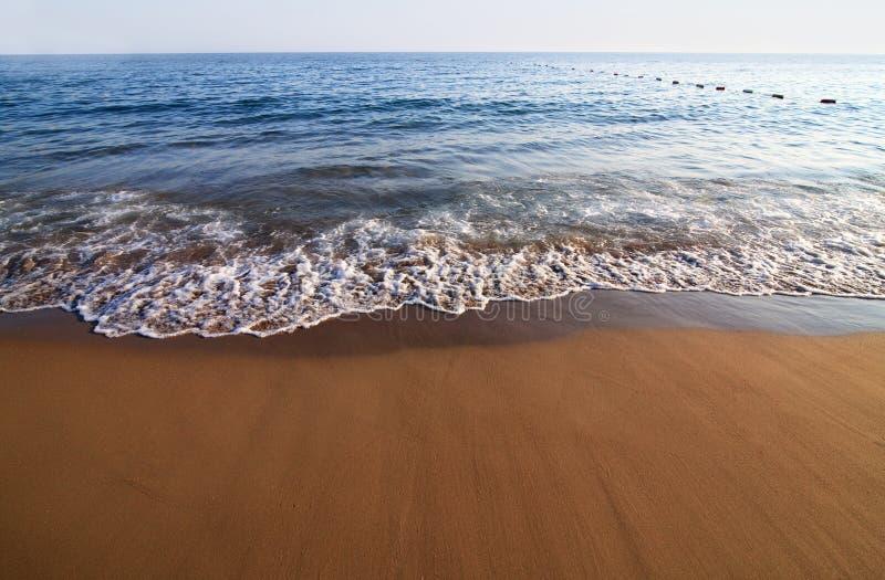 Sandy beach and surf. Mediterranean Sea. Turkey stock image