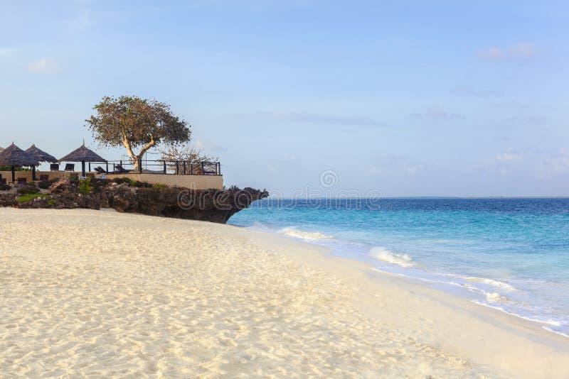 Sandy beach on a tropical island. royalty free stock photos