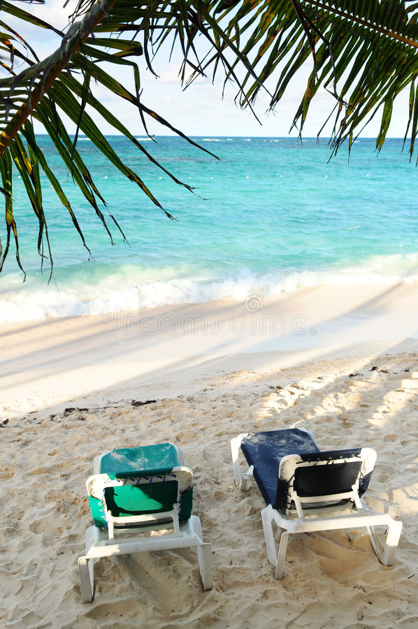 Download Sandy Beach Of Tropical Resort Stock Image - Image of paradise, recline: 4903713