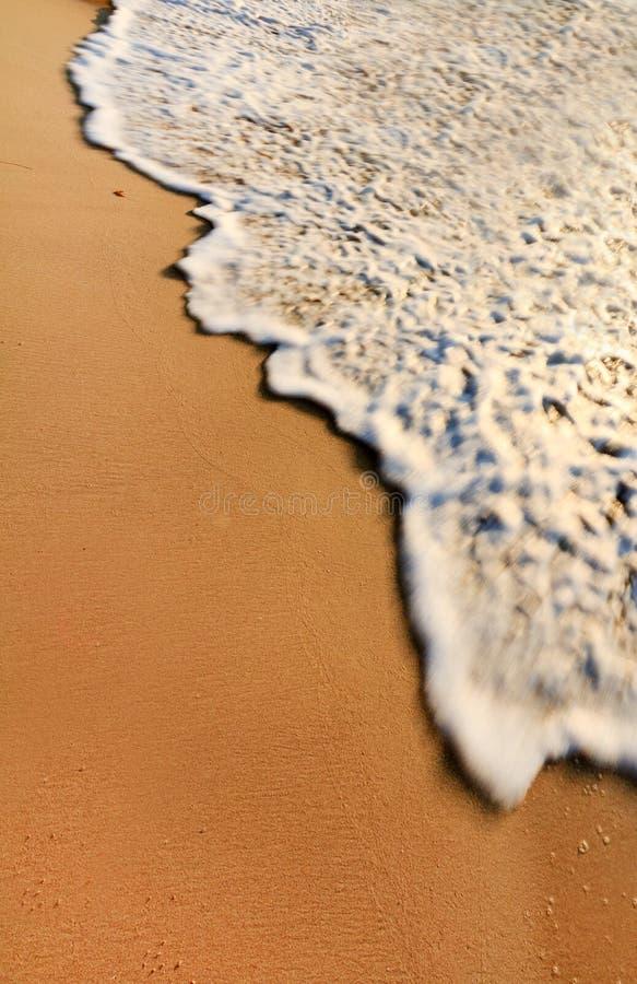 Sandy Beach With Wave Royalty Free Stock Photos