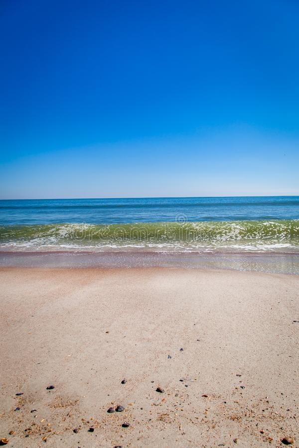 A wave forming on the shore at Amelia Island stock photography