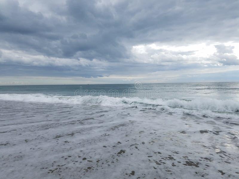 Beach at the Atlantic Ocean at Atlantic Beach, NC royalty free stock photo