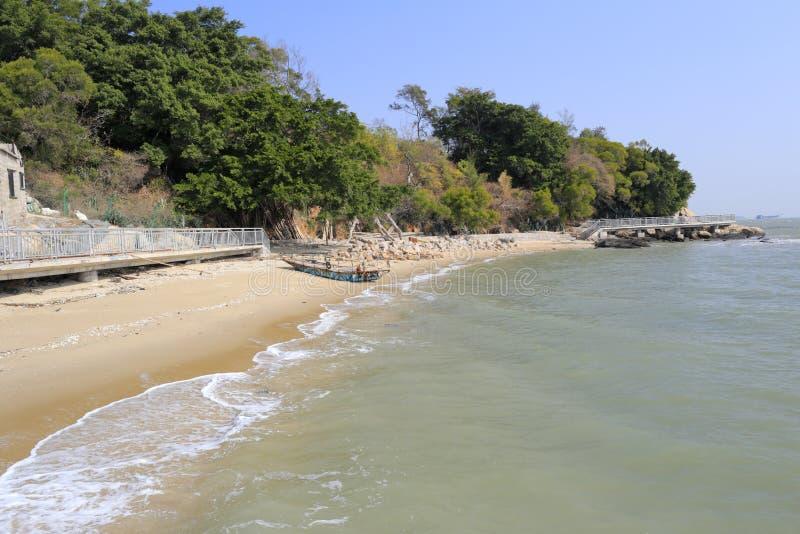 Sandy beach of xiaodeng isle. Amoy city, china stock photo