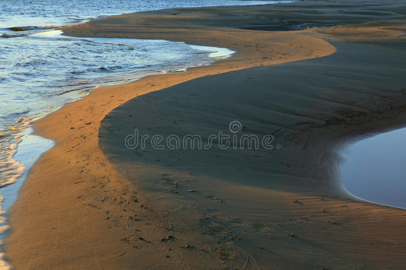 The sandy beaches. royalty free stock photography